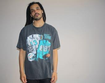 1993 VTG Miami Dolphins NFL Football Graphic T Shirt - 1990s NFL Tees - 90s Clothing - MV0335