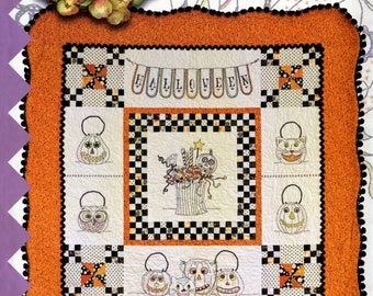 "QUILTING FUN (Quilt and Embroidery Pattern) - ""Vintage Trick or Treat"" - Design by Meg Hawkey"