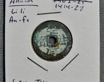 Annam (Vietnam) Li Li An Fa 1414-26 AD, Cash Coin (h)