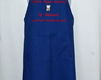 You've Been Served Apron, For Attorney, Lawyer, Waitress, Server, Mom, Grandma, Custom Personalized With Name, Ships TODAY, AGFT 293
