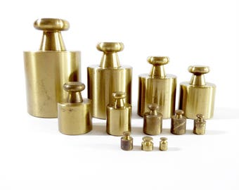 Brass Ohaus Metric Weights, Sto-A-Weigh, Scale Calibration,
