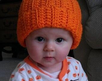 Pumpkin hat,Fall Pumpkin Hat, Pumpkin Photo Prop, Baby Pumpkin Hat, Thanksgiving Pumpkin Hat, Crochet Pumpkin Hat,CbbCreations