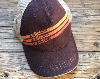 RARE Vintage 90s Adidas Knit and Mesh Baseball Cap, Adidas Hat, Vintage Adidas, Men's Hats, 90s Baseball Hat, 90s Snapback, Trucker Hat