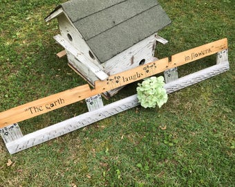 Vintage Herb Drying Rack, FREE SHIP,Flower Rack, Vintage Wall Hanging, Old Player Piano Parts, Vintage Garden