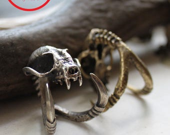 Xmas in July Sale Ready to Ship Miyu Decay Death Grip with Talons Ring in Brass and Silver