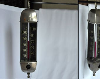 Taylor Bros. Thermometer - Chandelier Tri-Sided - Antique Rochester, NY Brothers Very Nice Brass