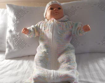 baby sack baby 2 piece knit sack and hat