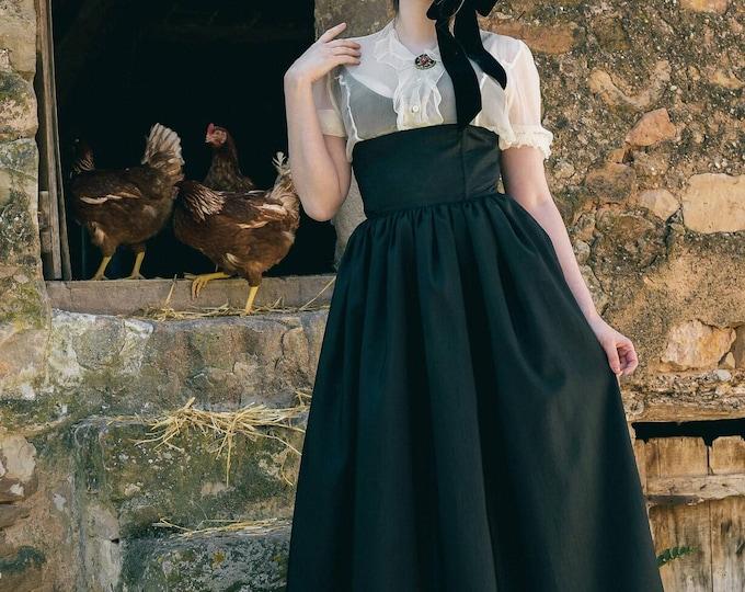 Elegant Gothic Lolita Taffeta Long Skirt