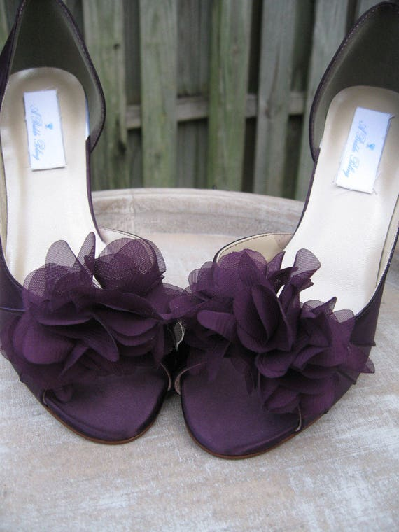 purple wedding shoes for bride purple eggplant bridal shoes purple wedding shoes with organza 6924
