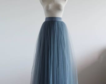 Gray maxi tulle skirt. Maxi tulle skirt.Woman tulle skirt. Bridesmaid tutu skirt. Maxi tutu skirt. Bridal tulle skirt. Wedding tulle skirt.