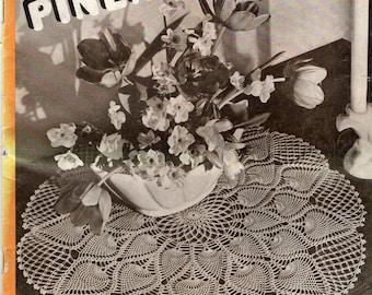 Coats Clark Book 230 NEW PINEAPPLE DESIGNS Sets - Doilies Apron Tablecloths Bedspread c. 1946 The Spool Cotton Co.