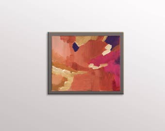 Small Abstract Painting - Mini Collectible Wall Art - 8x10 Modern Art - Hand Painted Abstract Artwork on Canvas - Expressionist Painting