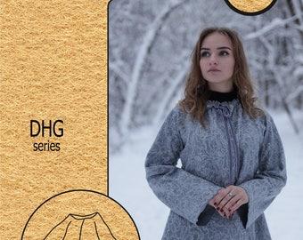 "Creativity Kit #18 / Wet felting / Cape jacket ""Winter Fairytale"""