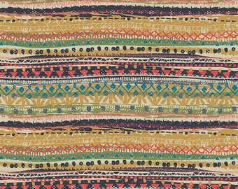 INDIE FOLK  Art Gallery Fabrics, Pat Bravo, Trinket Vivid, Fabric By the Yard, Boho, Baby Quilt, Cotton Fabric, Boho Nursery, Stripe