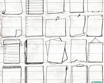 Bullet Journal Stencil - Hand Drawn Planner Boxes Clipart - Filofax Planner Clip Art - bullet journal Clipart - Bubble ClipArt - 103