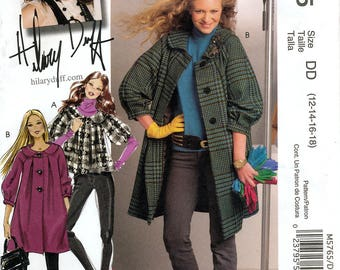 McCall's M5765 Hilary Duff Collection Misses' Lined Jacket and Coat Sewing Pattern - Uncut - Size 12, 14, 16, 18