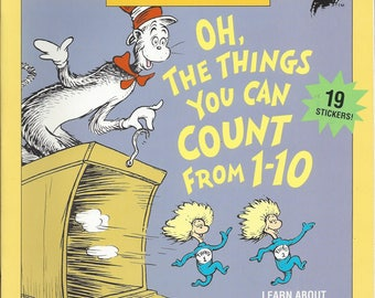 Vintage Dr. Seuss Oh, The Things You Can Count From 1-10 Children's Activity Book, 1995
