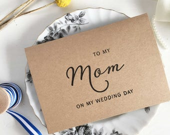 To My Mom On My Wedding Day, Thank You Mom and Dad, Wedding Card Mom, Card, Wedding Day Cards For Mom, Gift Wedding, Mom Of Bride Gift Card