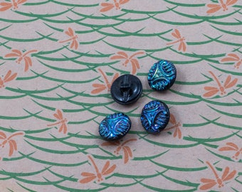 Vintage Costumakers Small Iridescent Plastic Buttons Lot of 4 Fancy Dress