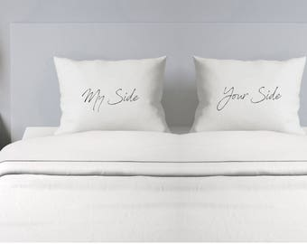 My Side Your Side, Couples Pillowcase - Custom Pillowcase - Wedding Gift - Personalized Pillowcase - Mr. and Mrs. Pillowcase