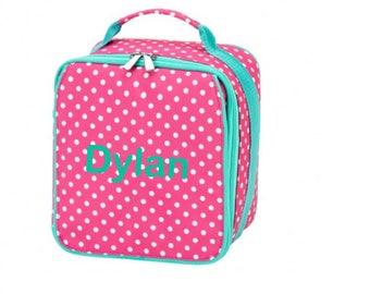 Personalized Pink Dottie Lunchbox