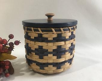 Lidded Toilet Paper Basket- Single Roll- Storage Basket-Canister Basket