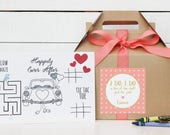 Set of 6 - Kids Wedding Boxes - ANY COLOR | Kids Wedding Favor Box | Kids Wedding Activity | Child's Activity Box | Rustic Dots label