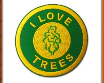 I Love Trees Iron On Patch
