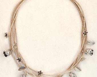 The Silver Rosebud Necklace