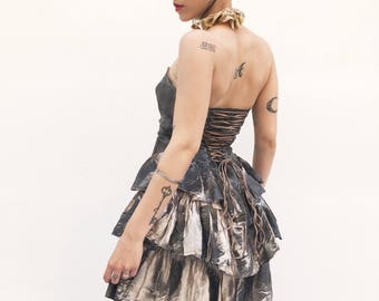 """Butterfly Embroidery Bustier Dress """"Vintage Recycling"""" Lola Darling"""