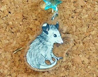 Opossum Joey Acrylic Keychain Charm