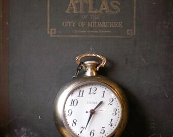 Vintage pocket watch wall clock Etsy