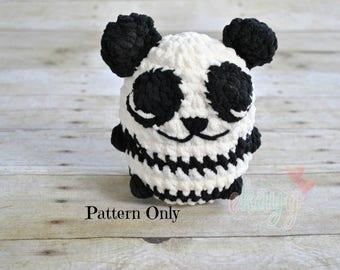 Crochet Pattern, Puffy Stuffy Panda