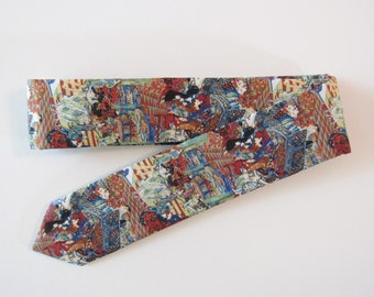 Gatsby Party Skinny Tie // Liberty of London, 1920s, Flapper, Cotton & Silk Necktie