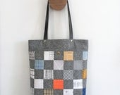 Stella tote bag, bag pattern, tote bag, instant download, pdf pattern, patchwork pocket, zipper closure tote, sewing, handbag, tutorial, bag