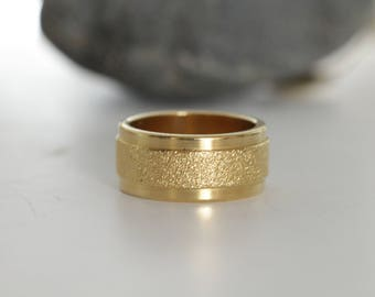 Simple wide gold wedding bands for women