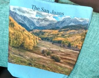 The Sneffles Range - Canvas Tote - San Juan Mountains - Spring in Colorado - Mount Sneffles - San Juan Mountains - Aspen Trees - Quakies