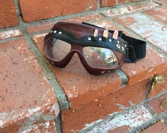 Crystal sight: unique hand made leather goggles