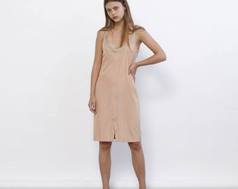 Big Summer Sale Summer Sale Stroppy Summer Mini Dress, Nude .