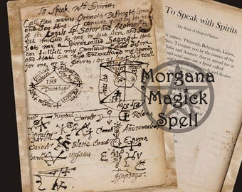 To SPEAK WITH SPIRITS, Ancient Spell Instant Download, Occult Symbol,Alchemy, Mythological,Digital Download, Occult Book of Shadows Page
