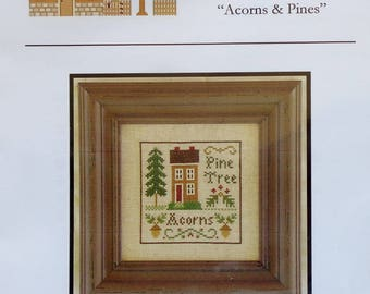 Cross Stitch Pattern | ACORNS & PINES | Little House Needleworks | Christmas Ornament | Diane Williams | Counted Cross Stitch Pattern