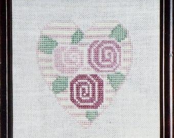 Cross Stitch Pattern | ROSE HEART PINCUSHION | Ewe Eye & Friends | Kam Slagel | Barbara Stark | Counted Cross Stitch Pattern