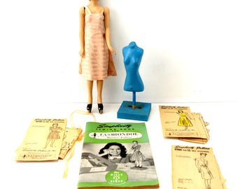 Vintage Simplicity Fashiondol Sewing Mannequin by Latexture Products (c.1940s) - Collectible, Home Decor, Sewing Doll Manikan Mannikan