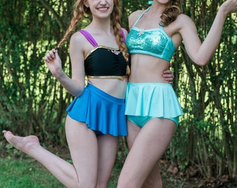 Princess Bikini Set - ANNA - Frozen Inspired - Cosplay/Sexy Costume  - Custom Made - Women's and Girl's Sizes!!!