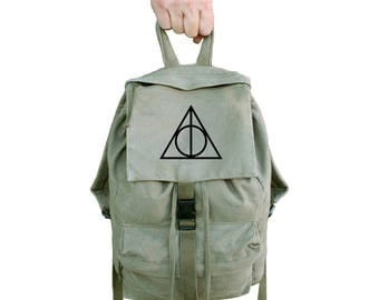 Harry Potter Backpack Deathly Hallows Backpack For School