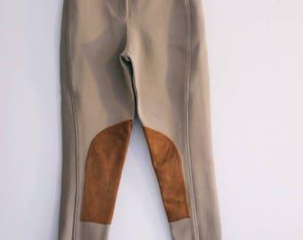 Vintage 90s Tan High Waisted Riding Pants sz. 4