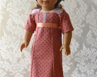 Titanic Doll Dress Downton Abbey for American Girl 18 inch doll pink