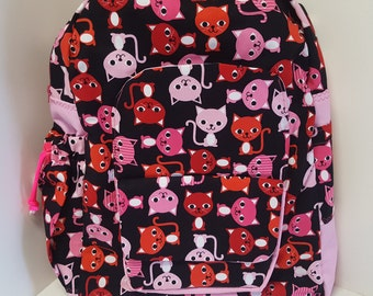 Pink Cats Young Ladys Backpack