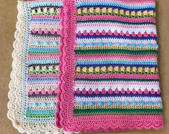 Crochet Baby Blanket Pattern - Baby Blanket Pattern - Crochet Baby Blanket - CROCHET PATTERN - Confetti -Crochet Patterns by Deborah O'Leary