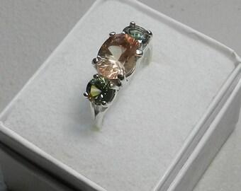 3 Stone Oregon Sunstone Ring #309